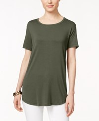 Jm Collection Short Sleeve Scoopneck Top Only At Macy's Olive Spring