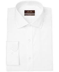 Tasso Elba Non Iron White Twill Solid Dress Shirt
