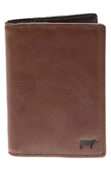 Will Leather Goods 'Shelby' Front Pocket Wallet Brown