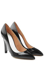 Maison Martin Margiela Maison Margiela Patent Leather Brushed Effect Wedges Black