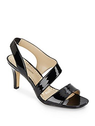 Adrienne Vittadini Giprisity Patent Leather Sandals Black