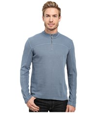 Agave Butte Long Sleeve Flatback Rib China Blue Men's Long Sleeve Pullover