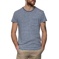 Grayers Blue Chalk Stripe Jaspe T Shirt