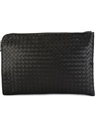 Bottega Veneta Woven Laptop Briefcase Black