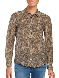 The Kooples Leopard Print Cotton And Silk Blouse