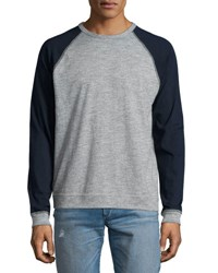 Rag And Bone Colorblock Raglan Sleeve Baseball Shirt Gray Grey