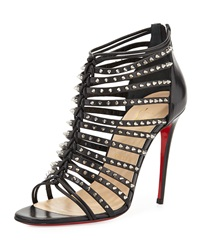 Millaclu Mini Spike Red Sole Pump Black Christian Louboutin