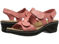 Clarks Lexi Walnut Q Coral Leather Women's Sandals Orange