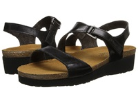 Naot Footwear Pamela Black Madras Leather Women's Sandals