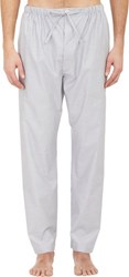 Barneys New York Micro Check Pajama Pants Grey