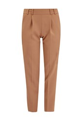 French Connection Whisper Light Cropped Peg Trousers Brown