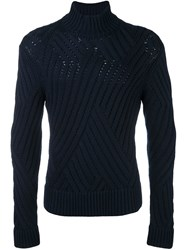 Neil Barrett High Neck Jumper Brown