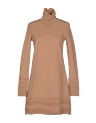 Vicedomini Dresses Short Dresses Women Camel