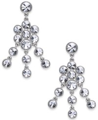 Charter Club Crystal Chandelier Earrings Only At Macy's Clear Silver