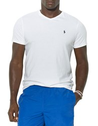Polo Big And Tall Jersey V Neck T Shirt White