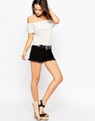 Jdy J.D.Y Cut Off Denim Shorts Black