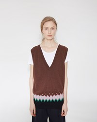Marni V Neck Tunic Cinder Rose