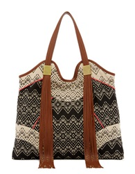 Ella Moss Gossamer Canvas Tote Black Multi