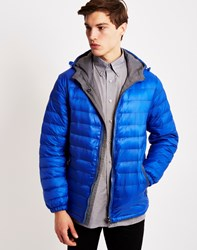 The Idle Man Nylon Hooded Jacket Blue