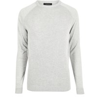 River Island Mens Grey Mesh Front Long Sleeve T Shirt