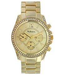 Style And Co. Watch Women's Gold Tone Mixed Metal Bracelet Sc1283