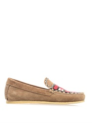Isabel Marant Anaco Beaded Suede Loafers