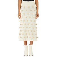 Opening Ceremony Women's Pom Pom Midi Skirt White