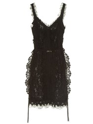 Lanvin V Neck Lace Dress