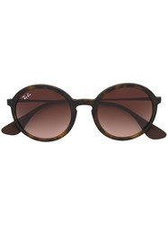 Ray Ban Round Frame Sunglasses Brown