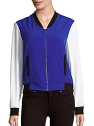 Drew Shoe Colorblock Baseball Jacket Royal Blue