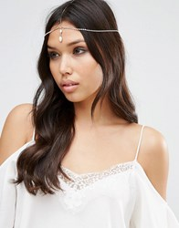 Asos Fine Drop Crystal Crown Headband Rose Gold Copper