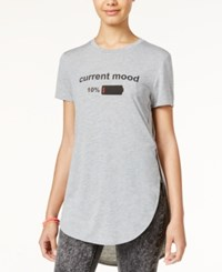 Freeze 24 7 Juniors' Current Mood High Low Graphic Tunic Grey Heather