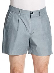 Versace Heathered Pleat Front Shorts Black