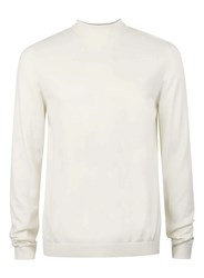 Topman Off White Mini Roll Neck Jumper