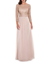 Decode 1.8 Illusion Cocktail Gown Champagne
