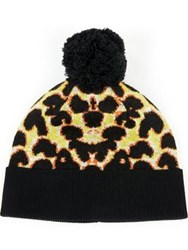 Paul Smith Ps By Leopard Print Hat Yellow