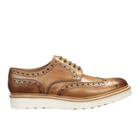 Grenson Men's Archie V Leather Brogues Tan Calf