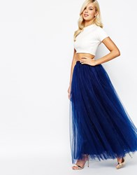 Little Mistress Maxi Tulle Skirt Navy