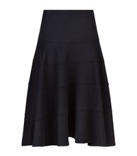 Victoria Beckham Flared Cashmere Midi Skirt Female Navy