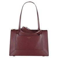 Radley Hardwick Leather Medium Tote Bag Burgundy