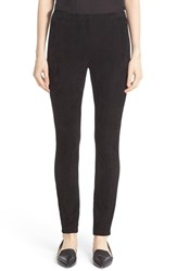 Lafayette 148 New York Women's Suede Front Punto Milano Riding Leggings
