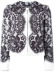 Boutique Moschino Lace Layer Jacket Blue