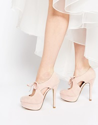 New Look Setting Lace Up Platform Heeled Shoes Pink