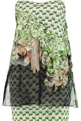 Missoni Embellished Crochet Knit Top Green