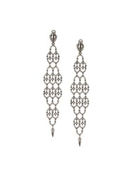 Loree Rodkin Diamond Chandelier Earrings Black