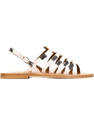 K. Jacques 'Homere' Sandals Pink And Purple