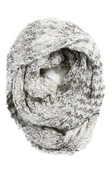 Women's Collection Xiix 'Honeycomb Shine' Knit Infinity Scarf Ivory Frosted Glass