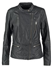 Only Onlfreya Faux Leather Jacket Black