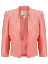 Jacques Vert Petite Edge To Edge Jacket Coral
