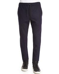 Rag And Bone Salute Alpha Trousers With Drawstring Waist Black